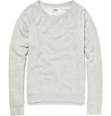 Acne Raw-Edged Collar Sweatshirt