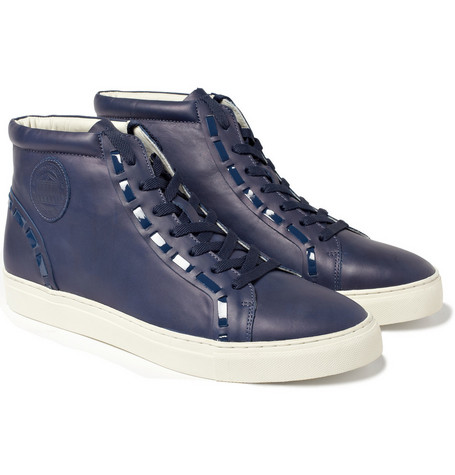 Acne Broadway Leather High Top Sneakers