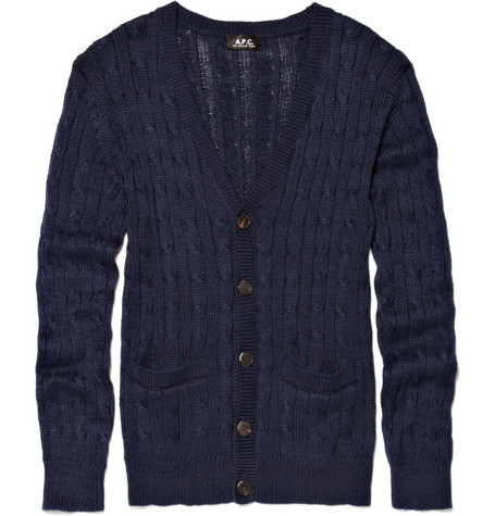 A.P.C. Cable Knit Cardigan
