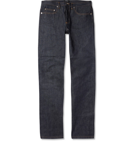 A.P.C. New Standard Straight-Leg Selvedge-Denim Jeans