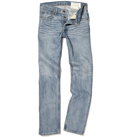 Rag & bone Straight Washed Jeans