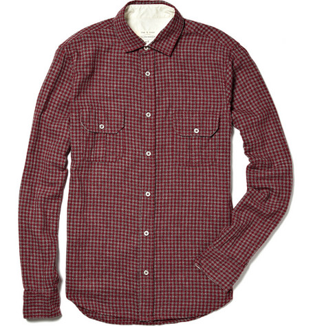 Rag & bone Cotton Check Officer Shirt