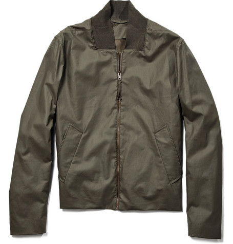Maison Martin Margiela Coated Cotton Bomber Jacket