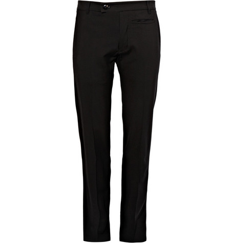 Rick Owens Slim Fit Wool-Blend Trousers