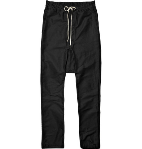 Rick Owens Drawstring Drop Crotch Trousers