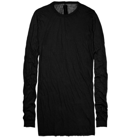 Rick Owens Long Jersey Cotton Sweater