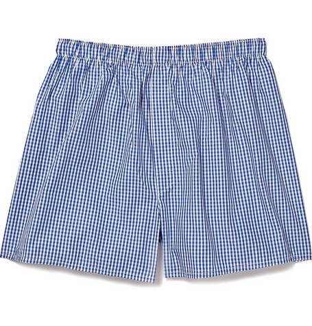 Sunspel Gingham-Check Cotton Boxer Shorts