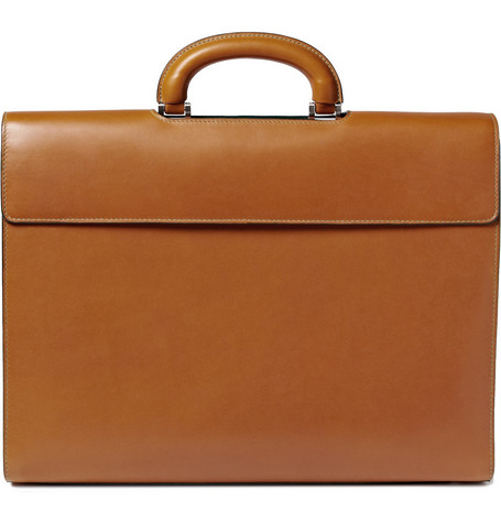 Valextra Leather Diplomatic Bag