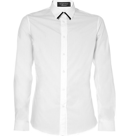 Viktor & Rolf Contrast-Tipped Cotton Shirt