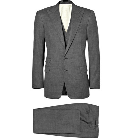 Ralph Lauren Purple Label Three Piece Pindot Suit