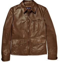 Ralph Lauren Purple Label Newsboy Leather Jacket