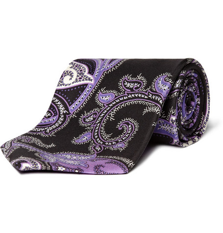 Ralph Lauren Purple Label Purple Paisley Tie