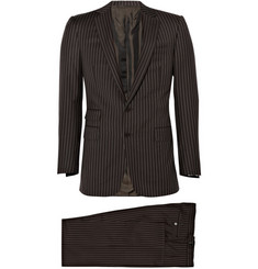 Ralph Lauren Purple Label Drake Wool Pinstripe Suit