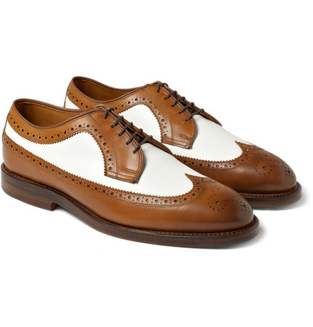 Ralph Lauren Shoes & Accessories Leather Two-Tone Brogues