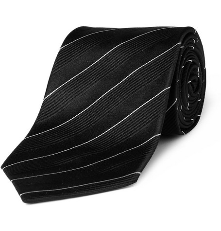 Ralph Lauren Black Label Ribbed Silk Tie