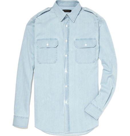 Ralph Lauren Black Label Chambray Military Shirt