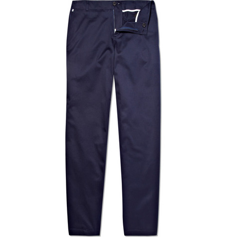 Richard James Flat Front Cotton Trousers