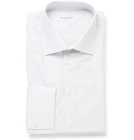 Richard James Fine Check Cotton Shirt