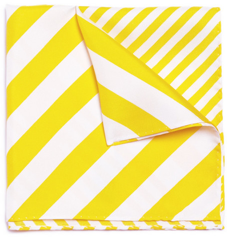 Paul Smith London Striped Silk Pocket Square