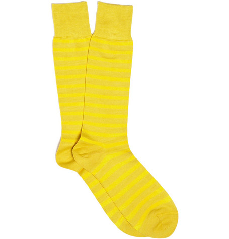 PS by Paul Smith Striped Cotton-Blend Socks