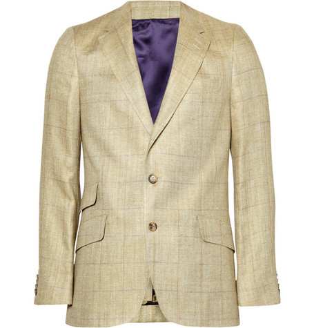 Paul Smith London Single-breasted Checked Blazer