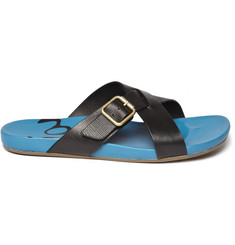 PS by Paul Smith Leather Cross-Strap Sandals