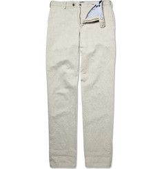 Incotex Linen-Blend Straight-Leg Chinos