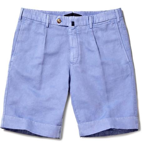 Incotex Linen-Blend Chino Shorts