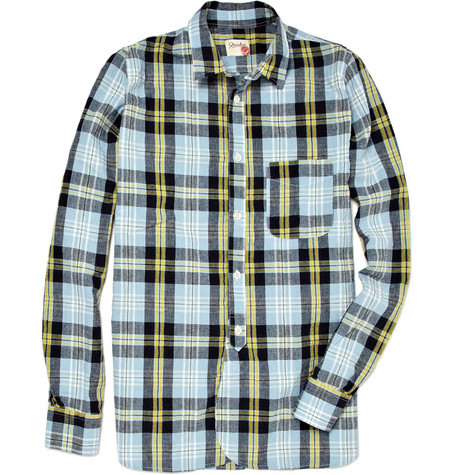 Slowear Cotton Blend Plaid Shirt
