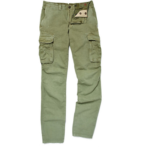 Slowear Incotex Slim-Fit Cotton and Linen-Blend Cargo Trousers