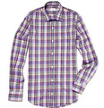 Hartford Plaid Cotton Shirt