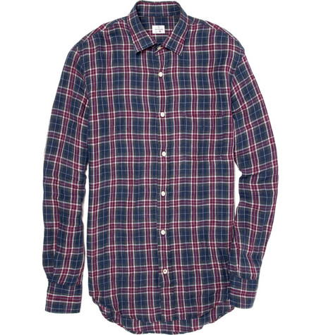 Hartford Linen Plaid Shirt
