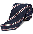 Drake's Rough Silk Stripe Tie