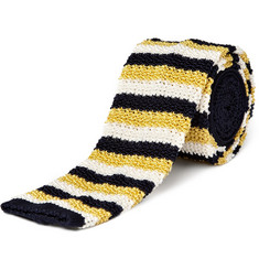 Drakes Knitted Stripe Tie