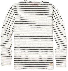 Aubin & Wills Long-sleeved Breton T-shirt