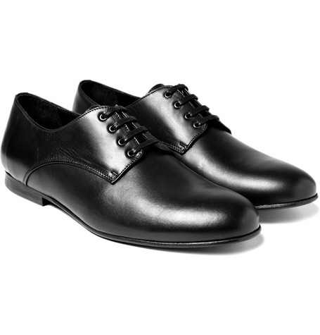 B Store Mario Leather Lace-Up Derby Shoes