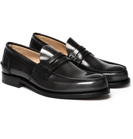 Church's Dark Grey Tunbridge Penny Loafers