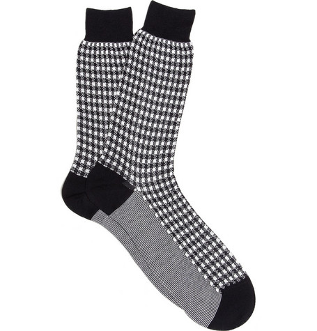 Richard James Gingham Cotton Socks