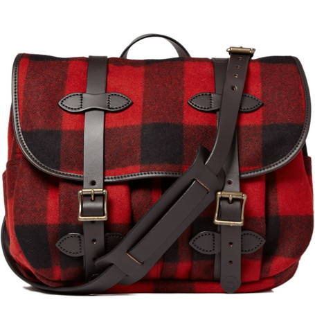 Filson Plaid Wool Field Messenger Bag