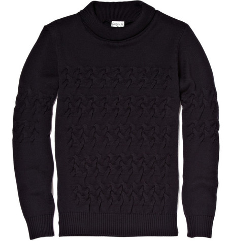 S.N.S. Herning Wool Lattice-Knit Sweater