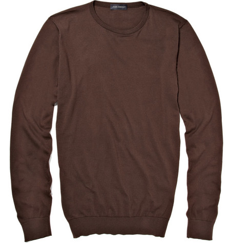 John Smedley Lineker Fine Gauge Crew Neck Cotton Sweater