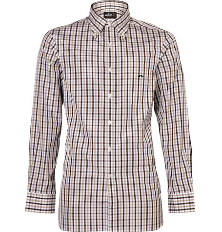 Mr. Bathing Ape Gingham Check Shirt with Button Down Collar