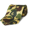 Mr. Bathing Ape Camouflage Print Tie