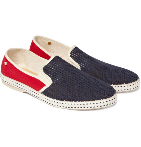 Rivieras Canvas and Mesh Slip-On Shoes