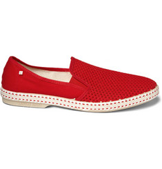 Rivieras Red Mesh Slip-On Shoes