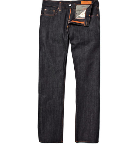 Jean Shop Rocker Raw Selvedge Denim Straight-Fit Jeans