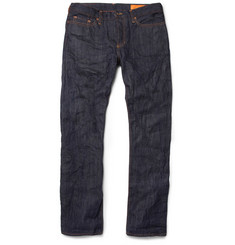 Jean Shop Slim-Fit Rinsed Selvedge Denim Jeans