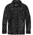 Jean Shop Leather Cowboy Jacket