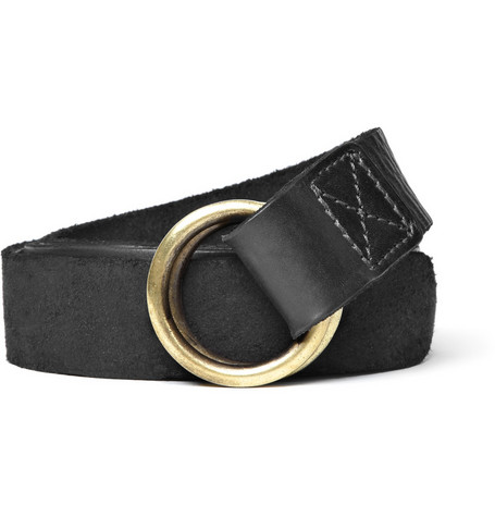 Jean Shop Ring-Buckle Leather Belt