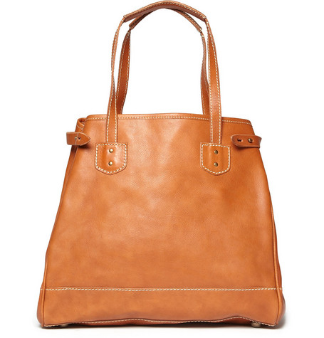 Jean Shop Leather Tote Bag